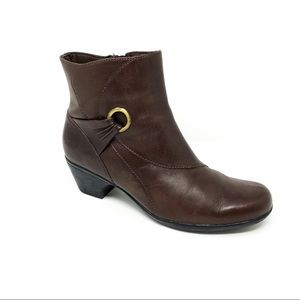 Clarks Brown Ankle Boot Ring Detail style 66769